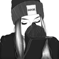 Line art illustration girl artworks Ideas for 2019 Tumblr Outline Drawings, Tumblr Girl Drawing, Girl Drawing Sketches, Cute Girl Drawing, Girly Drawings, Girl Sketch, Couple Drawings, Art Drawings, Couple Sketch