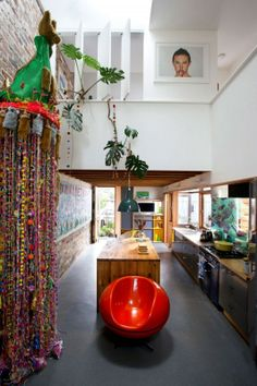 COZY HOME DISPLAYING A VARIETY OF COLORFUL DECORATIVE ELEMENTS: MARRICKVILLE HOUSE BY DAVID BOYLE