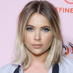Bronde hair is the perfect marriage between brown and blonde — it looks good on just about everybody. Get inspired by these bronde hair-color looks on different lengths and textures and be sure to bring these photos to your colorise Ashley Benson Haircut, Ashley Benson Short Hair, Medium Hair Cuts, Medium Hair Styles, Short Hair Styles, Blonde Color, Hair Color, Lip Colour, Root Smudge Blonde