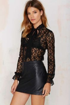 After Party Vintage Lace of Spades Top - After Party | Dark Romance | Dark Romance | Shirts + Blouses