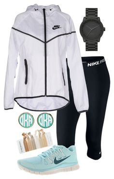 """Ootd "" by madelyn-abigail ❤ liked on Polyvore featuring NIKE and LEFF Amsterdam"