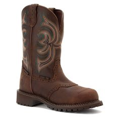 Justin Women's Gypsy Waterproof Pull-On Work Boot Steel Toe Aged Bark US -- You can get more details here : Work boots