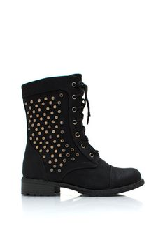 Stud-y Time Combat Boots