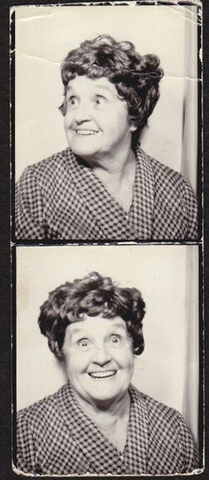 +~ Vintage Photo Booth Picture ~+  Love her jolly expression!                                                                                                                                                                                 More