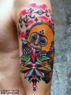 by, @kimsany  #hybridink #tattoo #studio #seoul #korea #style #skin #tattooart #tattooist #art #bodyart #drawing #illustration #monkey #하이브리드잉크 #김사니 #타투 #아트 #일러스트레이션 #스튜디오 #서울 #한국