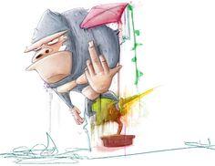"""""""Más enrredado que cometa de mocho y más aburrido que un mico en un bonsai"""" Children's Book Illustration, Bonsai, Concept Art, Anime, Kites, Conceptual Art, Bonsai Plants, Anime Shows, Anime Music"""
