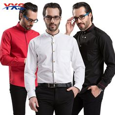 NEW 2016 Men'S Long Sleeve Brand Dress Shirts Slim Fit Commercial Personalized Chinese Stand Collar Formal Tuxedo Shirt Blazer Suit, Suit Jacket, Formal Tuxedo, Chinese Collar, Dress Brands, Mens Suits, Slim, Shirt Dress