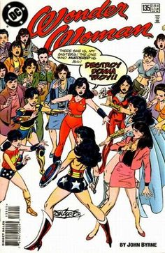 n°135 July 1998 - Women Cartoons - Superheros Costume - John Byrne