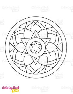Simple and easy-to-color mandala patterns for kids. The perfect coloring book to start a coloring adventure for kids. Easy Coloring Pages, Mandala Coloring Pages, Coloring For Kids, Coloring Books, Mandala Design, Mandala Pattern, Mandalas For Kids, Simple Mandala, To Color