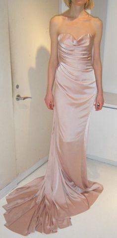 pink gown donna karan