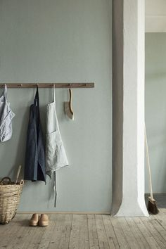 Inspiration : Pinterest - Interior Design   Design   Create   Tranquil Dawn   Colour of the Year 2020   Dulux   Green   Pattern   Print   Colour   Colourful   Texture   Home   House   Living Space   Hallway   Decor   Accessories   Coat Hooks   Neutral   Natural