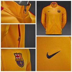 856fea590 Nike N98 FC Barcelona Authentic Track Jacket - University Gold Loyal Blue  قیمت  تومان