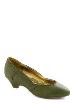 Get Into the Grove Heel by Bait Footwear. I don't think I'll ever buy shoes from ModCloth, but I can still look. $64.99