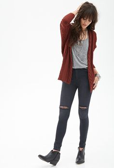 Cable Knit Batwing Cardigan, €26 - Forever 21
