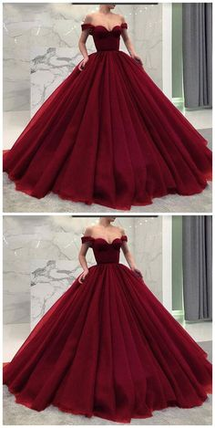 Burgundy Prom Dress,Ball Gown Wine Red Long Prom Dresses from meetdresse Burgund Abschlussballkleid, Ballkleid Weinrot Lange Ballkleider · meetdresse · Online Store Powered by Storenvy Long Prom Gowns, Ball Gowns Prom, Ball Gown Dresses, Evening Dresses, Formal Dresses, Poofy Prom Dresses, Dress Prom, Prom Long, Burgundy Quinceanera Dresses