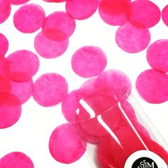 Hot pink jumbo confetti