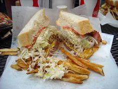 Pittsburgh's Primanti Brothers sandwich - jumbo and egg