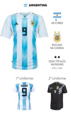 As camisas das 32 seleções da Copa | copa 2018 | Sportv Soccer Kits, Football Kits, Sport Football, Football Jerseys, Steven Gerrard, Argentina Logo, Premier League, World Cup Kits, Iker Casillas