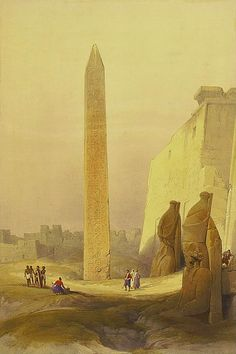 Below is a small selection of nineteenth century lithographs of Egypt By David Roberts R. They were produced for an illustrated book calle.