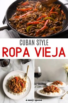 Cuban-Style Ropa Vieja Recipe Beef stew is a perfect example of hearty comfort food. Ropa Vieja is a hearty beef stew made Cuban-style with shredded flank steak, bell peppers, onions, and a flavorful tomato sauce. Pork Recipes, Mexican Food Recipes, Cooking Recipes, Latin Food Recipes, Chili Recipes, Cuban Dishes, Food Dishes, Spanish Dishes, Food Food