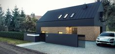 UNIQ | Projekty domów i wnętrz | Dom z poddaszem