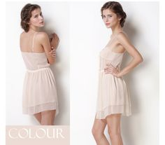 Little Sexy Layered Slip with Front Buttons,$118.98