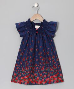 Take a look at this Midnight Blue Flower Tunic - Toddler by Buckleberry Kids on #zulily today!