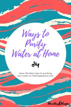 How to Purify Water at Home Find answer for a question about purifying water. Natural ways how to do it Survival Tips, Survival Skills, Vegan Vitamins, Water Benefits, Water Purification, Water Life, Healthier You, Healthy Options, Drinking Water