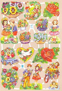 Great place for die-cut scrap images - perfect for decoupage easter eggs and christmas ornaments