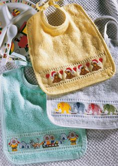 Christmas Bibs for Babies and Children, from Anchor/Coats.