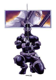 Toys & Hobbies products for sale Gi Joe Characters, Comic Book Characters, Comic Book Heroes, Comic Books Art, Comic Art, Arte Ninja, Ninja Art, Snake Eyes Gi Joe, League Of Assassins