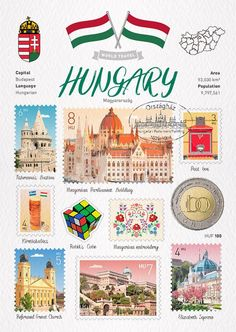 Budapest, County Map, Science And Nature, Travel Posters, Trip Planning, Kids Learning, History, World, Watercolor Paper