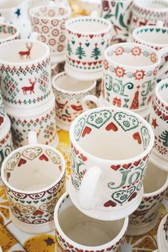 Emma Bridgewater samples, March 2015 Hand painted pottery