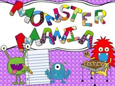 Monster Theme - Math and Literacy Activities | Edworld Exchange | Where Educators Buy and Sell Resources