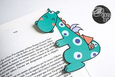 Dragon bookmarker by glòria fort _ studio on @creativemarket
