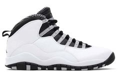 NIKE AIR JORDAN 10 RETRO [WHITE/BLACK-LIGHT STEEL GREY-VARSITY RED] (310805-103)