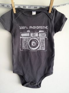 Onesie with retro holga camera for baby! For a girl or a boy. Can pick from any of the colors available. Love your retro holga camera! Digital