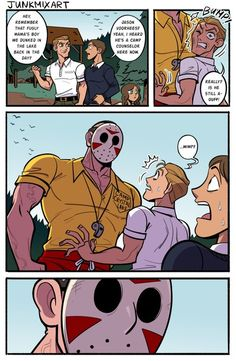 Horror Movies Funny, Horror Films, Scary Movies, Cartoon As Anime, Anime Comics, Friday The 13th Comics, Badass Halloween Costumes, Scary Movie Characters, Horror Drawing