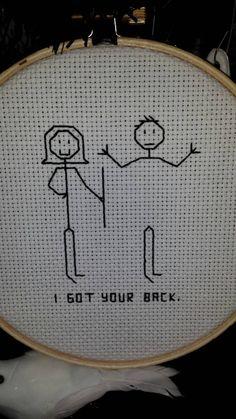 Thrilling Designing Your Own Cross Stitch Embroidery Patterns Ideas. Exhilarating Designing Your Own Cross Stitch Embroidery Patterns Ideas. Cross Stitch Hoop, Cross Stitch Quotes, Cross Stitching, Cross Stitch Embroidery, Embroidery Patterns, Funny Cross Stitch Patterns, Cross Stitch Designs, Crochet, I Got Your Back