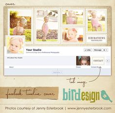 Facebook custom timeline cover  E351 by birdesign on Etsy, $8.00