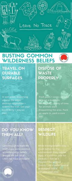 Since food is natural, can we toss it when hiking? Shouldn't we walk single file when traveling off-trail? Find the truths on these common beliefs (& more), and get the full list of Leave No Trace principles via @outdoorwomen. http://www.outdoorwomensalli