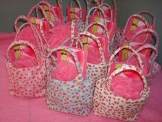 Day Spa Party. pamper products, loofah, party favors.