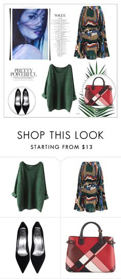 """""""Yes."""" by mayabee88 ❤ liked on Polyvore featuring Burberry and Nika"""