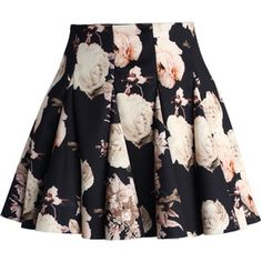 Chicwish Faded Roses Mini Skater Skirt