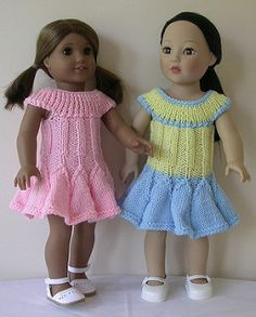 This dress has a flared skirt and has a low or off the shoulder bodice. It's cute short with a flower like skirt and very pretty long and a crocheted hem can be added if desired.