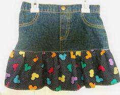Falda de Blue Jeans Ella 2 día piezas falda de por DenimDiva2day