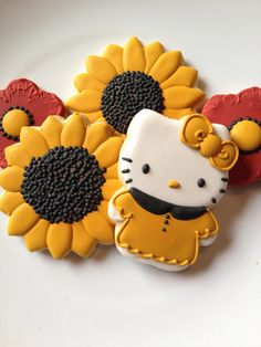 Hello Kitty Sunflower cookies