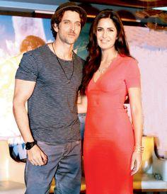 Hrithik Roshan and Katrina Kaif promoting their film 'Bang Bang' in Delhi.