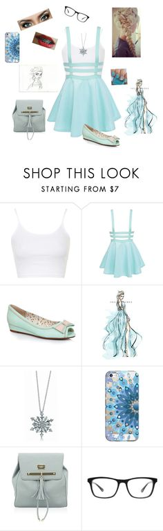 """""""Modern Elsa"""" by americanreject ❤ liked on Polyvore featuring Topshop, Ellie, Disney, BERRICLE, Casetify, Joseph Marc and modern"""