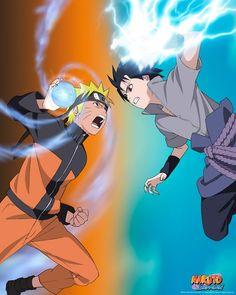 Naruto Shippuden poster Naruto VS Sasuke - ABYstyle Studio